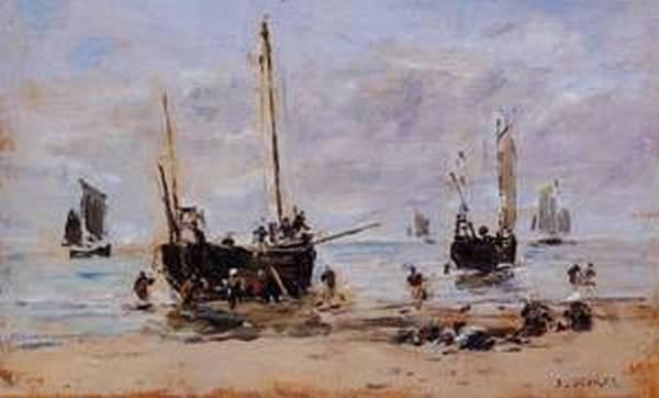 Berck Fishermen at Low Tide 1880 1885
